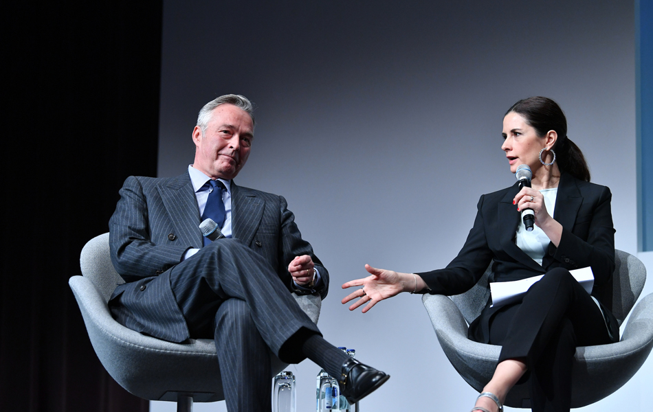 Chopard co-President Karl-Friedrich Scheufele with Livia Firth