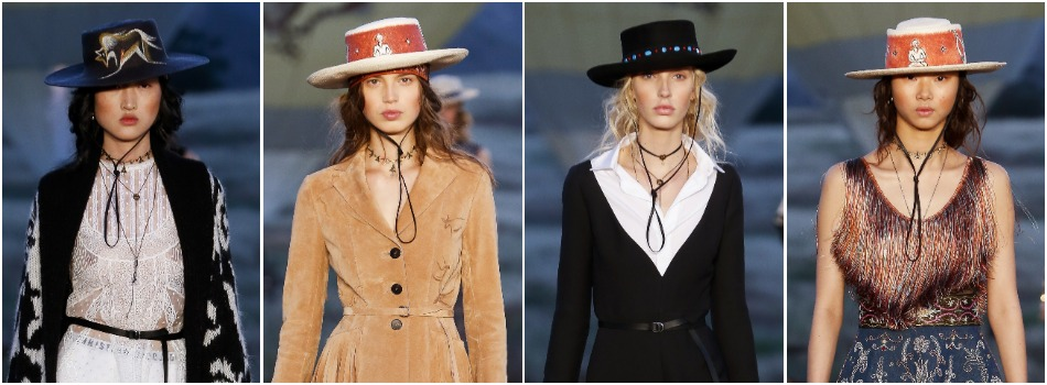 Dior Resort 2018 hats