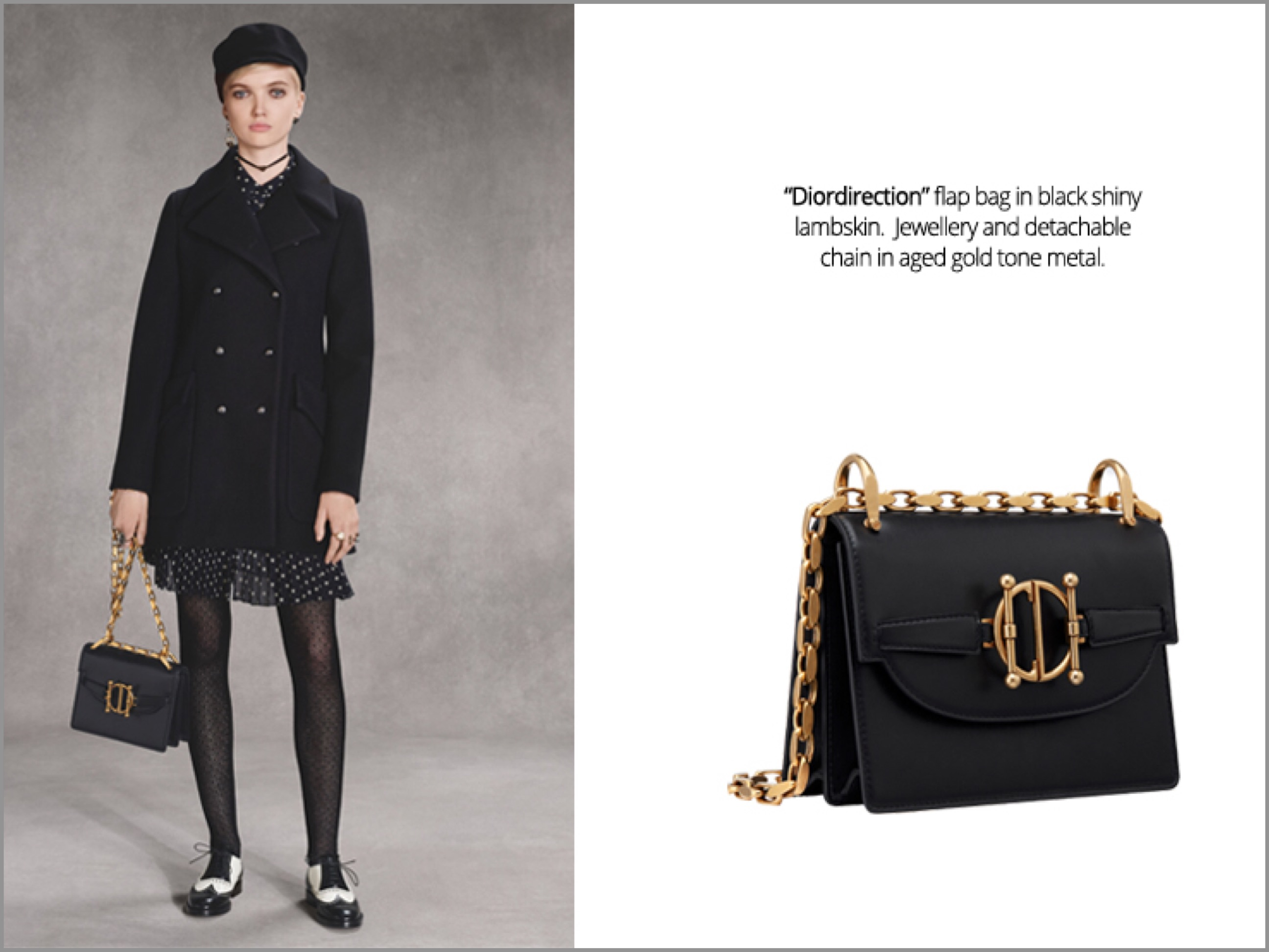 """The highly coveted """"Dior Book Tote"""" bag from Spring-Summer took on a strong  rendition for Fall 9face525e8a35"""