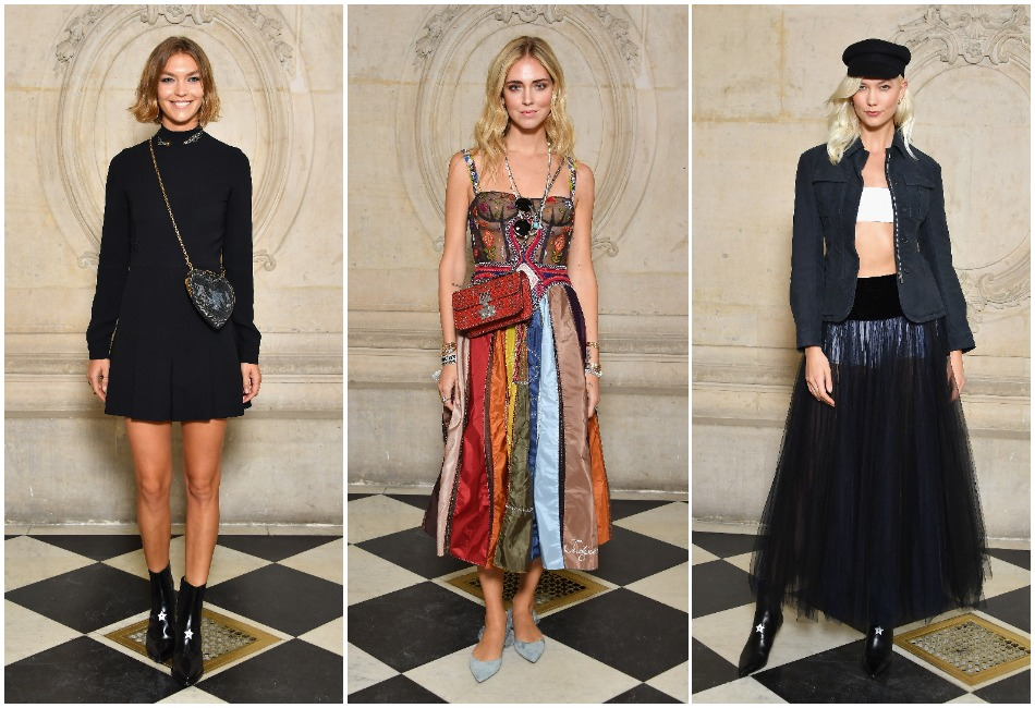 Dior SS18 - Lady Amelia Windsor, Chiara Ferragni, Arizona Muse
