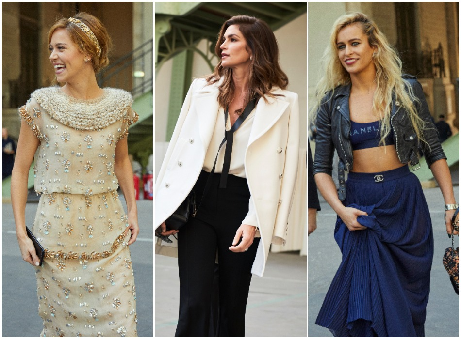 chanel ss18 celebs