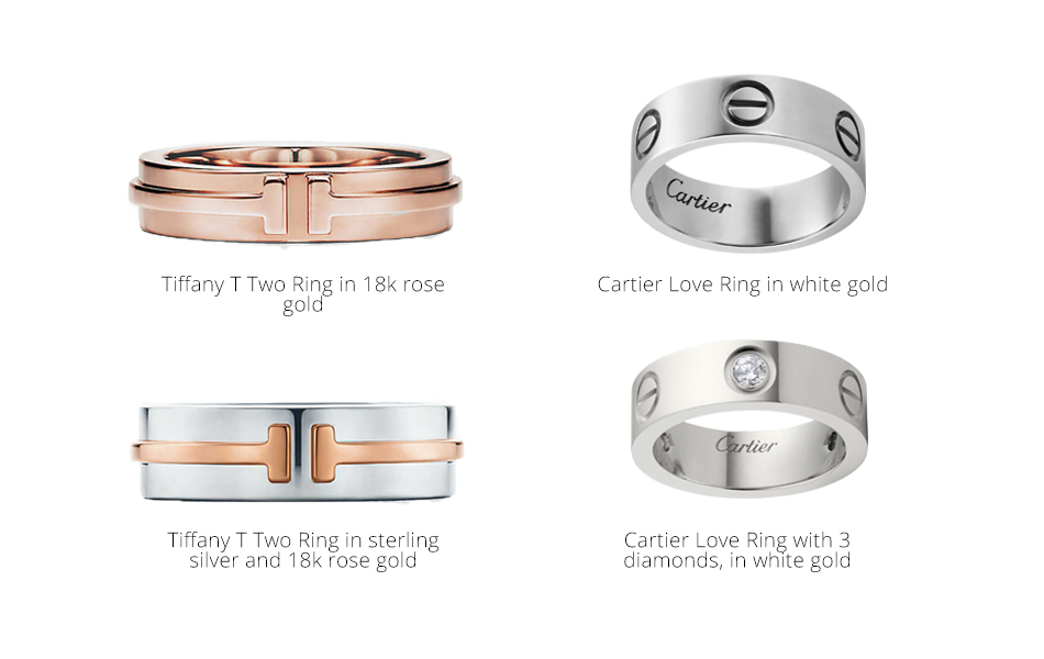 tiffany and cartier rings